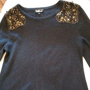 Women's Topshop dark navy blue sweater